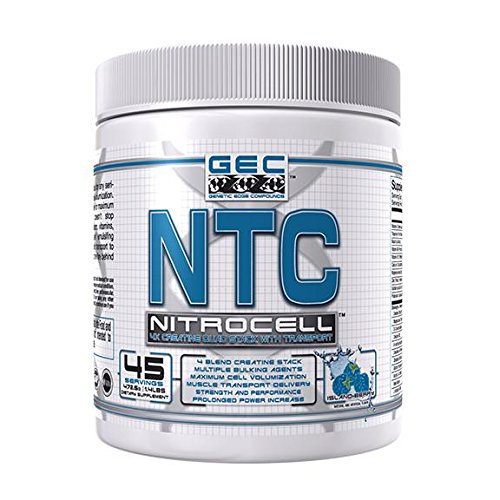 GEC NTC NITROCELL 4X CREATINE QUAD PACK by GENETIC EDGE COMPOUNDS
