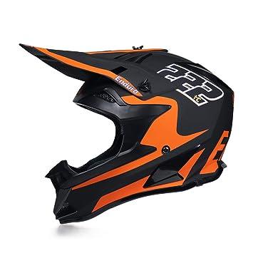 Cross Helm Fullface MTB Off Road Helm Erwachsener Motorradhelm Set f/ür Enduro ATV Downhill Schwarz und Gr/ün MRDEAR Motocross Helm Kinder Motorrad Crosshelm mit Brille 4 St/ück