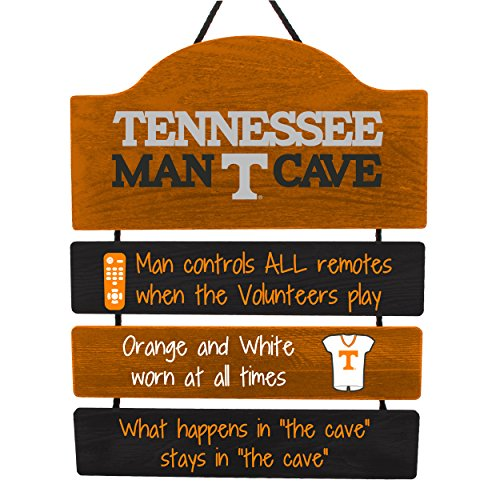 (FOCO NCAA Tennessee Volunteers Mancave Sign, Team Color, One Size)