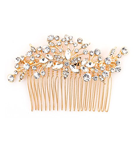 DaXi Wedding Hair Side Combs Bridal Hair Combs Bridal Shower Hair Clips for Brides and Bridesmaids