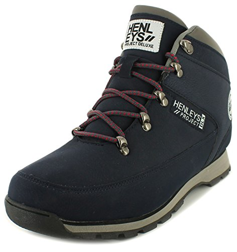 Walking Sizes Mid Navy UK Gents Navy New Ups Logo 12 Boots 7 Lace Mens Henleys with Cuts Yq8w76O