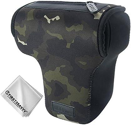 Camuflaje marrón Cámara Reflex Neopreno Protectora para Canon EOS ...