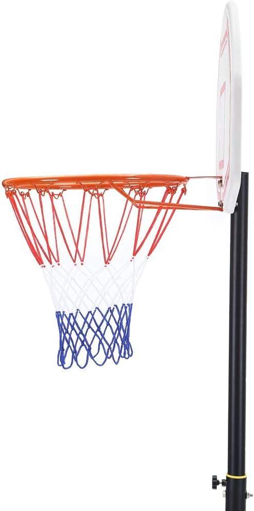 Amazon.com: Sistema de aro de baloncesto portátil con ruedas ...