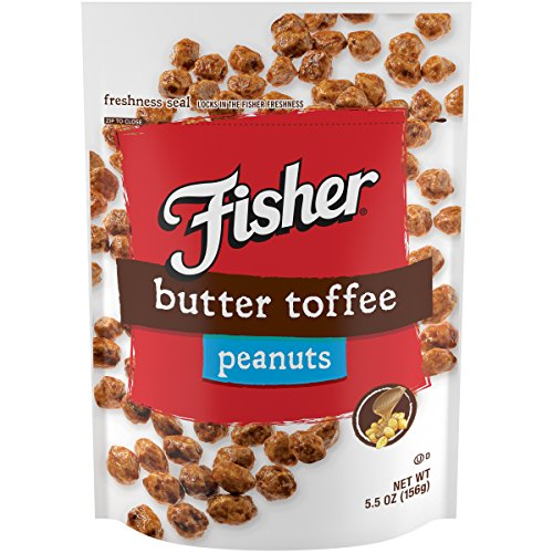 - FISHER Snack Butter Toffee Peanuts, 5.5 oz (Pack of 6)