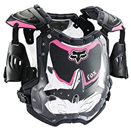 Fox Racing R3 Youth Girls Roost Deflector Off-Road Motorcycle Body Armor - Black/Pink / Small