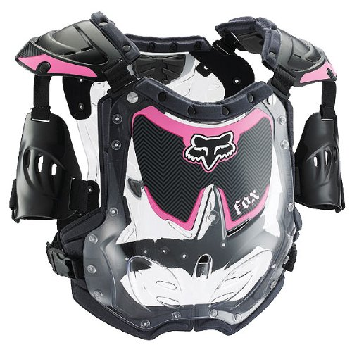 Fox Racing Kids Boots - Fox Racing R3 Youth Girls Roost Deflector Off-Road Motorcycle Body Armor - Black/Pink / Small