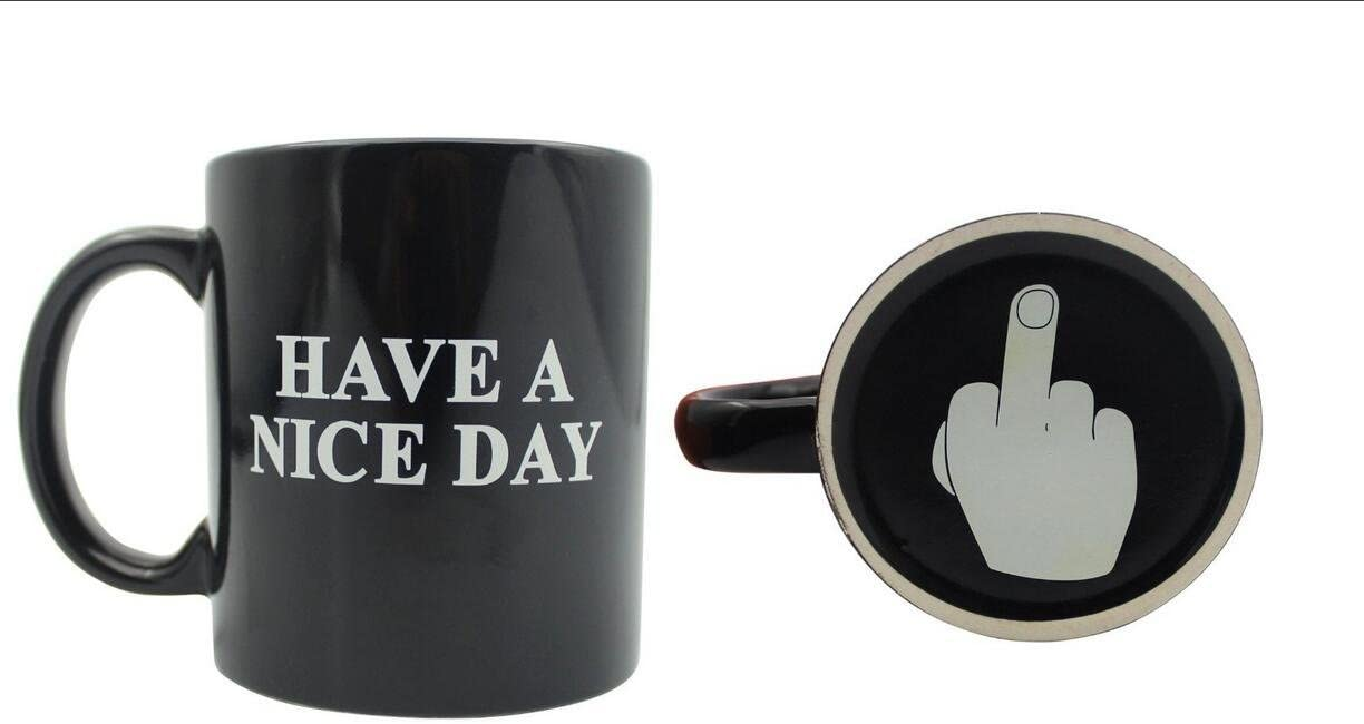 Long Middle Finger Mug | Show Monday Morning Coffee Cup