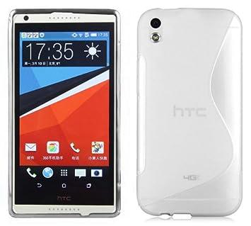 Cadorabo HTC Desire 816 Funda de Silicona TPU DISEÑO S en Semi Transparente – Cubierta Protectora Super Delgada e Flexible con Antichoque – Gel Case ...