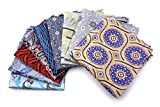 AVANTMEN 10 PCS Men's Pocket Squares Assorted Woven Handkerchief Hanky with Gift Box (10 x 10, S6)