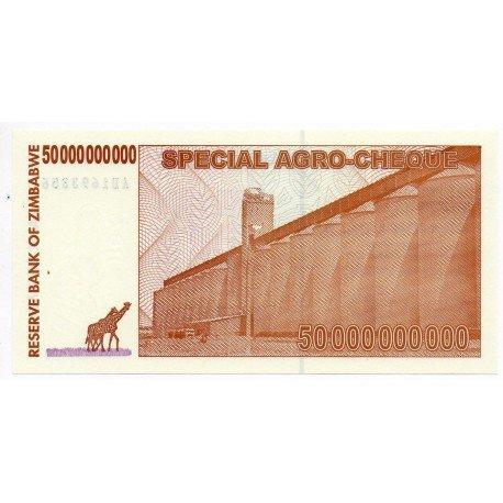 Zimbabwe 50 Billion Dollars 15 May 2008 Pick 63
