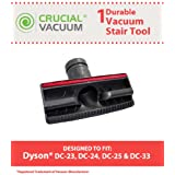 Dyson Stair & Upholstery Furniture Tool w/Pet Strips for Dyson Vacuums; Compare to Dyson Part Nos. 915100-01, 915100-02; Designed & Engineered by Think Crucial