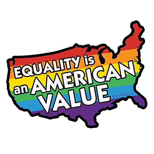 - EvolveFISH Equality is an American Value Bumper Sticker 5