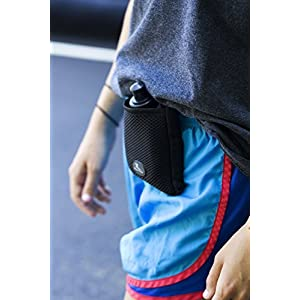"Buddy Pouch H2O (Pink) - Magnetic, Personal Hydration Pouch. No Belt or Clip. (4""L x 4""W)"