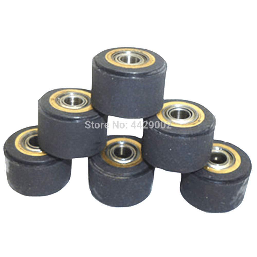 Fevas 1/2/3/4/5/6pcs 4mmx11mmx16mm Copper Core Pinch Roller Vinyl Plotter Cutter Cutting Engraving Machine Printer Paper Feed Wheel - (Color: 6pcs)