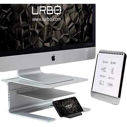 chollos oferta descuentos barato Urbo Pico Soporte para Monitor 4 en 1 con Soporte para Documentos Soporte para teléfono Desmontable y Soporte para Documentos para escritorios ergonómicos en Cada Espacio de Trabajo