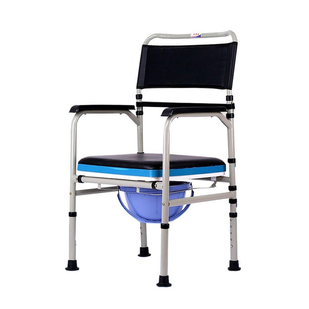 ●日本正規品● 折り畳み式トイレシートポータブル高さ調節可能な炭素鋼製トイレ椅子滑り止め手すり妊婦/高齢者 B07F8RD3S7/障害者用浴室シャワースツールスチールチューブトイレチェア B07F8RD3S7, GCJ_STORE:a2cc783b --- arianechie.dominiotemporario.com