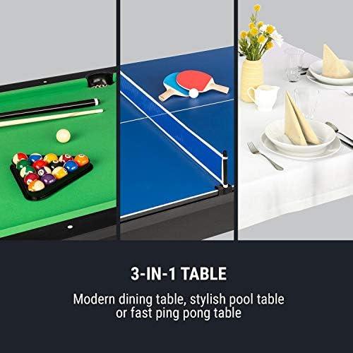 Oneconcept Liverpool - Mesa de Billar 3 en 1, Mesa de Ping Pong ...