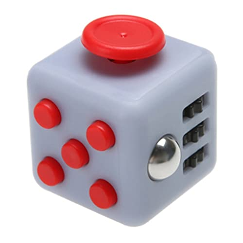 Younger Fidget Toy Cube Relieves Stress And Anxiety For Children Adults Grey Red