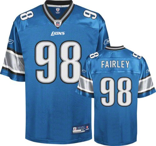 Blue Reebok Nfl Light - Nick Fairley Youth Jersey: Reebok Light Blue #98 Detroit Lions Replica Jersey