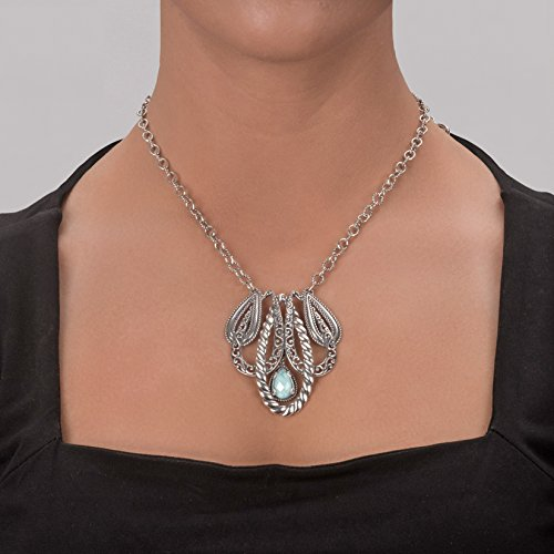 Carolyn Pollack Genuine .925 Sterling Silver Statement Necklace by Carolyn Pollack (Image #2)