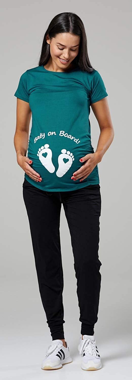 199p Womans Maternity Slogan Little Feet Funny Print Top T-Shirt Happy Mama