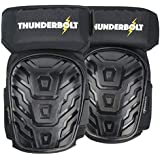 NEW! Professional Knee Pads by Thunderbolt Most Comfortable Gel Cushion for Work, Flooring, Construction, Gardening and Tactical
