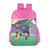 Fairly OddParents Boys Girls School Bagpack Pink