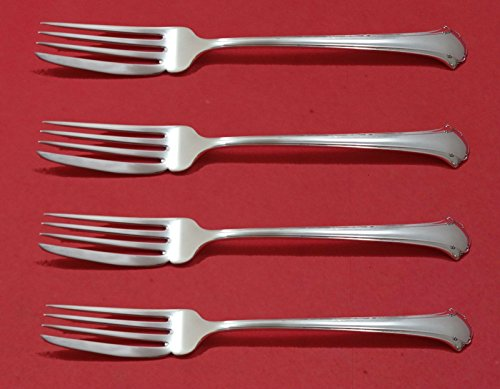 - Chippendale by Towle Sterling Silver Fish Fork Set 4pc AS Custom Made 7 1/4
