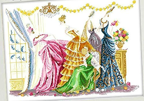 Zamtac Embroidery Package Cross Stitch Kits Unopen New Luxurious Dresses & Gowns of The - Ball Stitch Cross