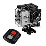 Sports Action Camera Ultra HD 12MP Waterproof Cam 170 Ultra Wide-Angle Lens with Mounting Accessories Kit WiFi Waterproof Camera with Remote Control for Cycling Swimming Climbing Diving