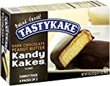 Tastykake, Kandy Kakes Dark Chocolate Peanut Butter MP Comm Snack Cake, 8 oz