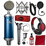 Blue Microphones Bluebird SL Large-Diaphragm Condenser Microphone with Mic Boom Arm Stand, Closed-Back Headphones, and Platinum Bundle