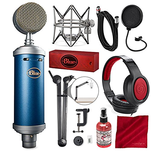 Condenser True Large Diaphragm (Blue Microphones Bluebird SL Large-Diaphragm Condenser Microphone with Mic Boom Arm Stand, Closed-Back Headphones, and Platinum Bundle)