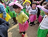 BOSHENG Tropical Multi-Colored Kids Sized Artificial Grass Hula Skirts,Set of 6