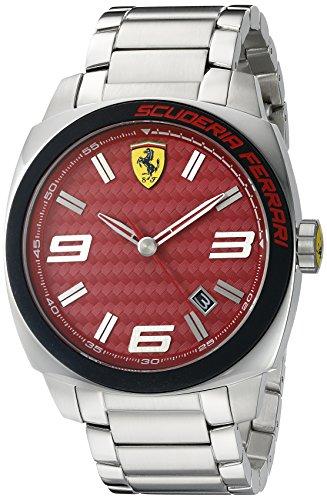 Ferrari Men's 0830167 Aero Evo Analog Display Quartz Silver Watch