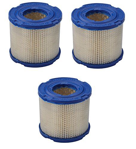 (Briggs & Stratton Genuine OEM 393957S 3-Pack Round Air Filter)