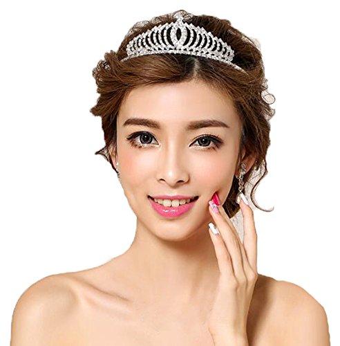 Pretty Wedding Rhinestone Tiara Crown Headband Comb Pin Bridal Birthday Tiaras - Pretty Tiara