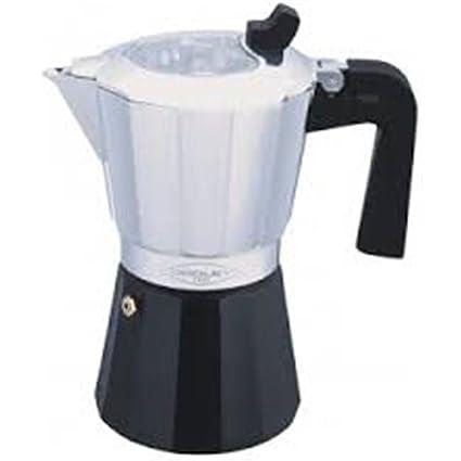 Oroley 215050500 Cafetera para 12 Tazas, Aluminio, Negro, 20x20x30 cm