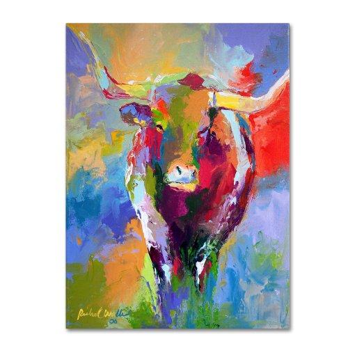 Longhorn by Richard Wallich, 24x32-Inch Canvas Wall Art