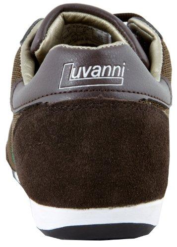 Veritable De Brun Chaussures Mode Sneaker Sport Baskets Des Cuir Luvanni Hommes gTxIwq