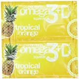 Coromega Omega3 Squeeze with Vitamin D3, Tropical Orange, 90 Count (Pack of 3)