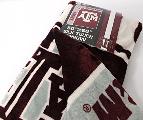 The Northwest Company Texas A&M Aggies NCAA Silk Touch 50x60 Micro Raschel Plush Throw