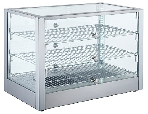 EQ Kitchen Line Heating Countertop Double Squared Display (Glass Triple Display Case)