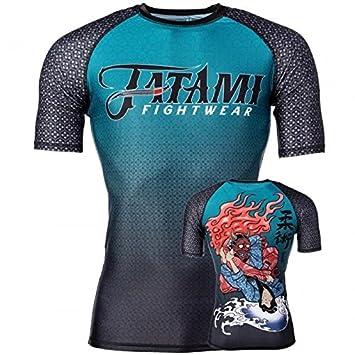 Tatami Fightwear Devils Triangle - Camiseta de Manga Corta para Hombre, Hombre, Color Azul