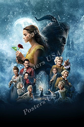 """Posters USA - Beauty and the Beast 2017 Movie Poster GLOSSY FINISH) - MOV533 (24"""" x 36"""" (61cm x 91.5cm))"""
