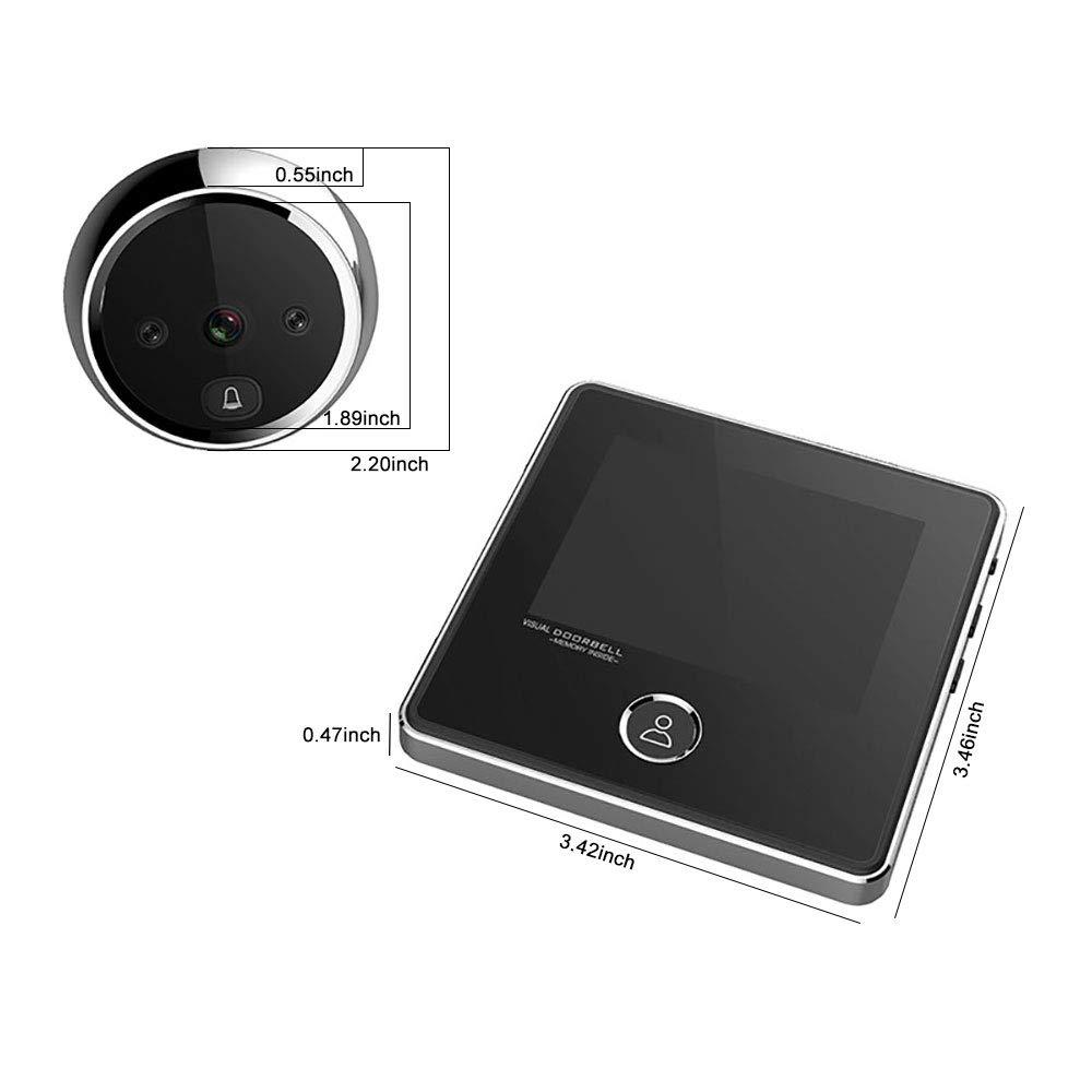 3 Inch No Disturbing Digital Door Viewer Security Cameras Door Cat Eye Doorbell with Night Vision by Asunflower (Image #6)