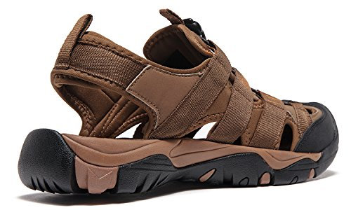 ATIKA AT-M107-BRN_Men 11 D(M) Men's Sports Sandals Trail Outdoor Water Shoes 3Layer Toecap M107 by ATIKA (Image #3)