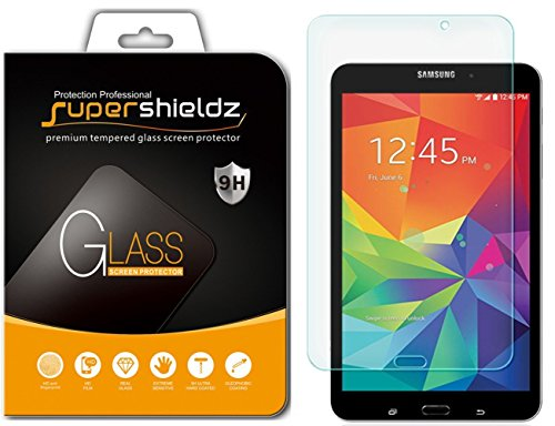 ([2-Pack] Supershieldz for Samsung Galaxy Tab 4 8.0 8 inch Screen Protector, [Tempered Glass] Anti-Scratch, Anti-Fingerprint, Bubble Free, Lifetime Replacement Warranty)