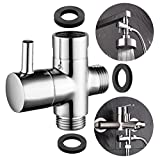 "CIENCIA G1/2""Bathroom Angle Valve For Solid Brass 3-Way Shower Arm Diverter Valve Handshower for Handshower Universal Showering Components,Chrome (DSF007)"