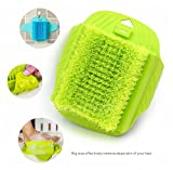 MAXXXX Bathroom Foot Brush Cleaning Slipper Massage Brush Scrubber With Sucker - Green